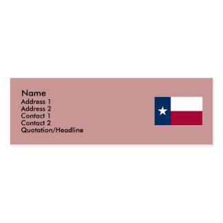 Bandeira do estado de Texas Cartão De Visita Skinny