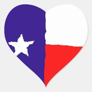 Bandeira do estado de Texas do pop art Adesivo Coração