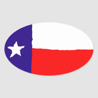 Bandeira do estado de Texas do pop art Adesivo Oval