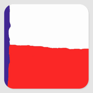 Bandeira do estado de Texas do pop art Adesivo Quadrado