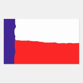 Bandeira do estado de Texas do pop art Adesivo Retangular