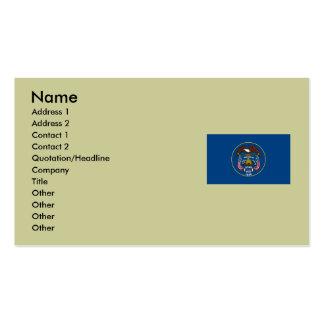 Bandeira do estado de Utá Cartão De Visita
