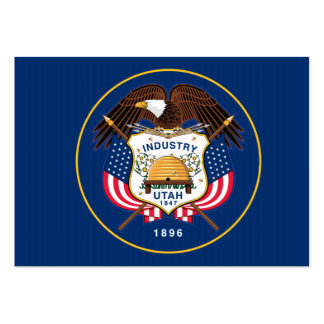Bandeira do estado de Utá Cartão De Visita Grande