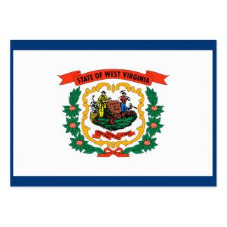 Bandeira do estado de West Virginia Cartões De Visitas