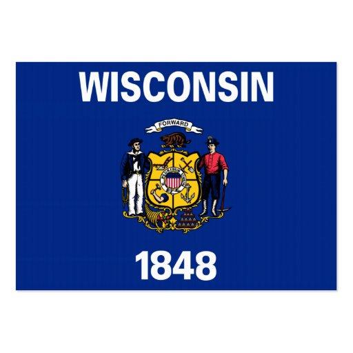 Bandeira do estado de Wisconsin Modelos Cartoes De Visitas
