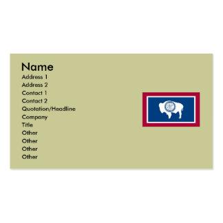 Bandeira do estado de Wyoming Cartão De Visita