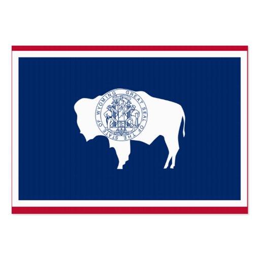 Bandeira do estado de Wyoming Modelo De Cartões De Visita