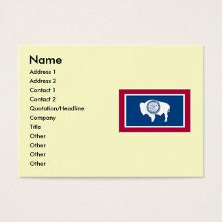 Bandeira do estado de Wyoming Cartão De Visitas