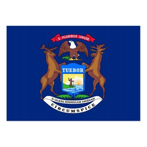Bandeira do estado do Michigan Cartões De Visitas