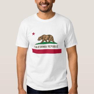Bandeira do estado do urso da república de t-shirt