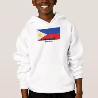 Bandeira do filipino da skyline de Manila