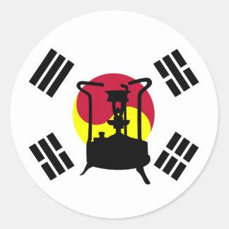 Bandeira do fogão da pressão de Coreia do Sul | Adesivo