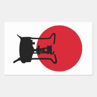 Bandeira do fogão da pressão do vintage de Japão | Adesivo Em Formato Retângular