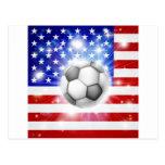 Bandeira do futebol dos EUA Cartão Postal