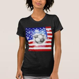 Bandeira do futebol dos EUA Camiseta