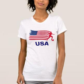 Bandeira do futebol dos EUA Tshirt