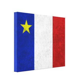 Bandeira do Grunge afligido Acadia Impressão Em Tela