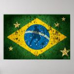 Bandeira do Grunge de Brasil para esportes do fute