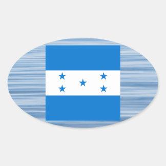 Bandeira do Honduran que flutua na água Adesivo Oval