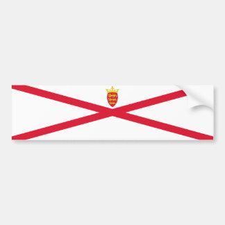 Bandeira do jérsei. Grâ Bretanha, coroa britânica Adesivo Para Carro