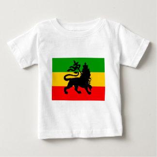 Bandeira do leão camiseta para bebê
