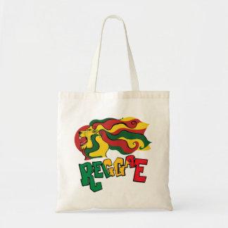 bandeira do leão da reggae do rasta sacola tote budget