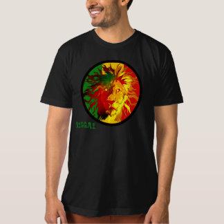 bandeira do leão da reggae do rasta tshirt