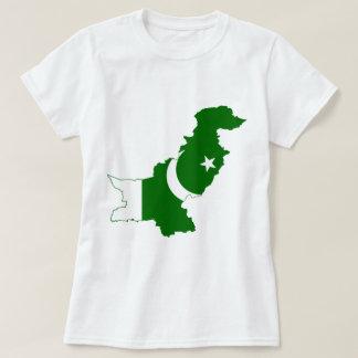Bandeira do mapa de Paquistão Camisetas