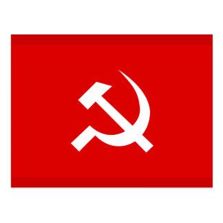 Bandeira do martelo & da foice de URSS do russo Cartão Postal