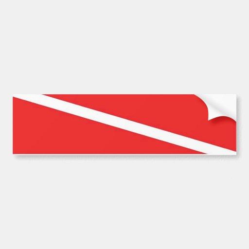 Bandeira do mergulho adesivo