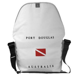 Bandeira do mergulho do mergulhador de Port Bolsas Mensageiro