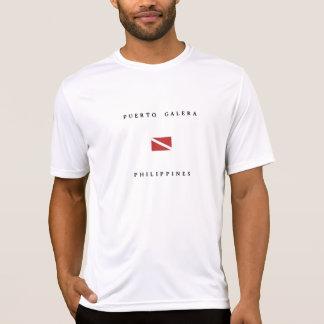 Bandeira do mergulho do mergulhador de Puerto Camiseta