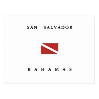 Bandeira do mergulho do mergulhador de San Cartão Postal