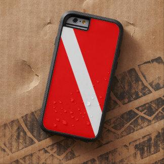 Bandeira do mergulho do mergulho autónomo capa tough xtreme para iPhone 6