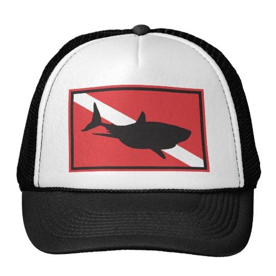Bandeira do mergulho do tubarão boné