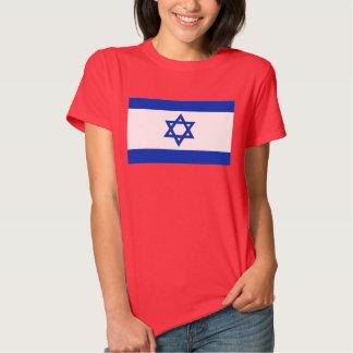 Bandeira do mundo de Israel Camisetas