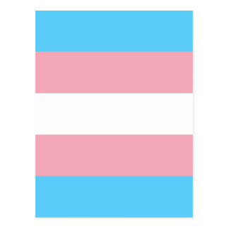 Bandeira do orgulho do Transgender - arco-íris do Cartão Postal