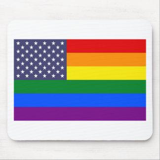 Bandeira do orgulho dos E.U. Mousepad