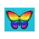 Bandeira do orgulho gay da borboleta do arco-íris impressão em tela canvas