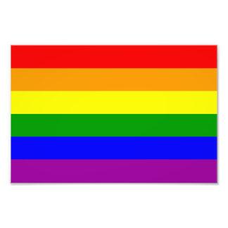 Bandeira do orgulho gay impressão de foto