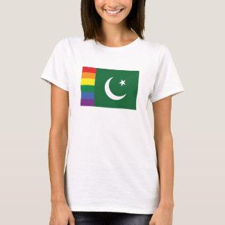 Bandeira do paquistanês do orgulho gay camiseta
