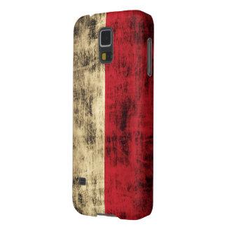 Bandeira do polonês do Grunge do vintage Capinhas Galaxy S5