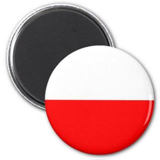 Bandeira do Polônia Ímã Redondo 5.08cm