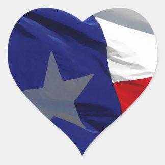 Bandeira do pop art de Texas Adesivo Coração
