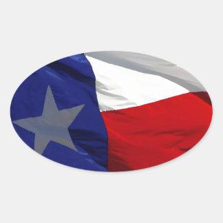 Bandeira do pop art de Texas Adesivo Oval