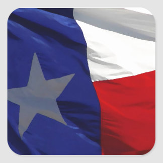 Bandeira do pop art de Texas Adesivo Quadrado