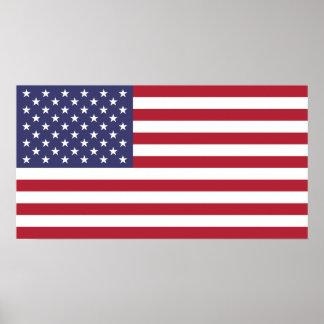 Bandeira do poster pequeno dos Estados Unidos da A Pôster