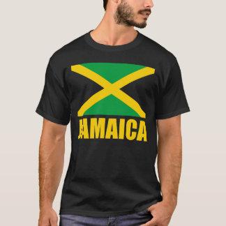 Bandeira do preto do texto amarelo de Jamaica Camiseta