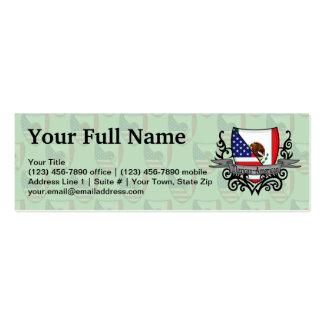 Bandeira do protetor do méxico-americano cartões de visitas