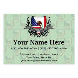 Bandeira do protetor do méxico-americano cartão de visita